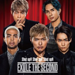 EXILE THE SECOND シングル「Shut up!! Shut up!! Shut up!!」CD + DVDジャケ写