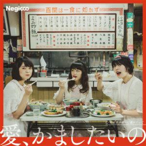"""Negicco シングル「愛、かましたいの」完全生産限定盤(7""""シングルレコード)ジャケ写"""