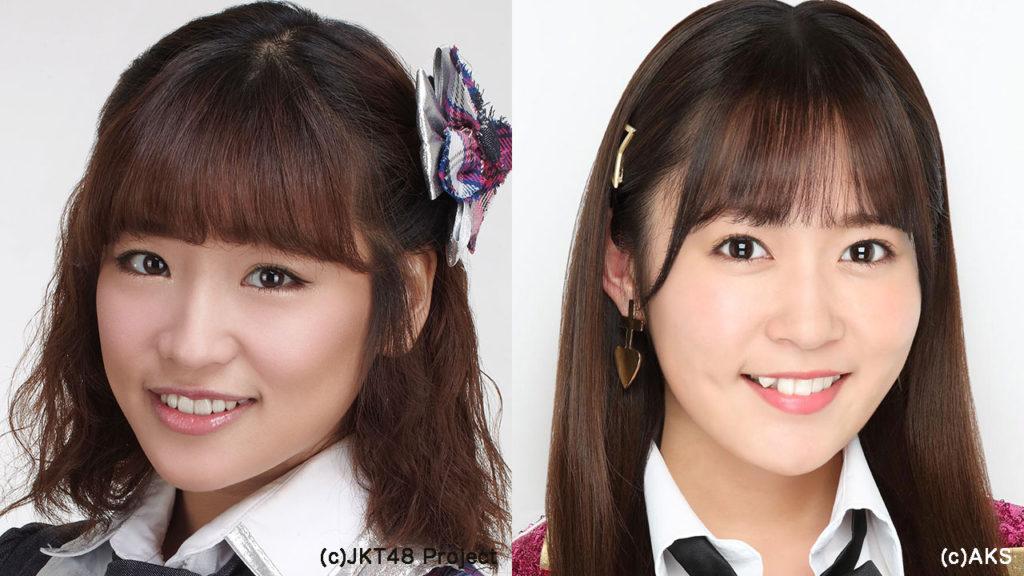 JKT48仲川遥香(左)・HKT48多田愛佳(右)